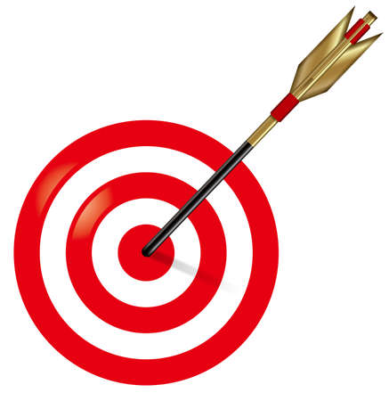 Target and arrow illustration.