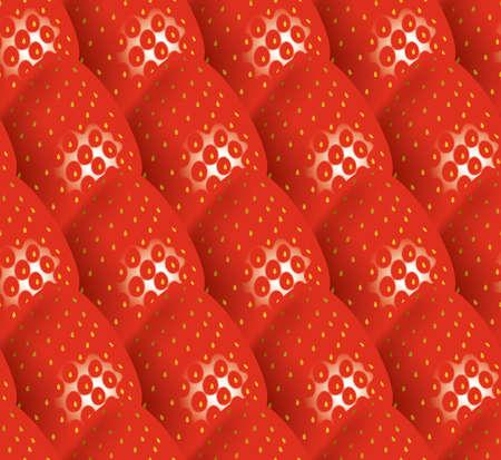 Illustratie van aardbeien. Naadloze patroon