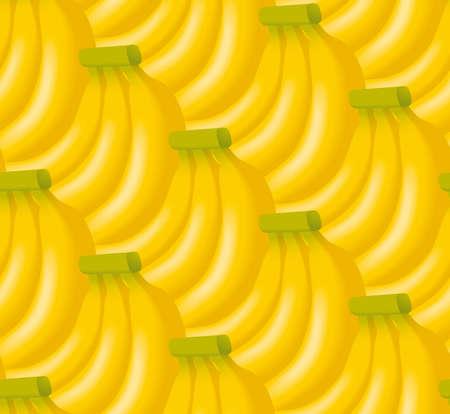 Illustratie van bananen. Naadloze patroon