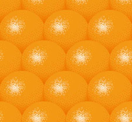 Illustration of oranges. Seamless pattern.