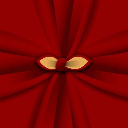 Wrapping cloth illustration. Japanese Furoshiki.