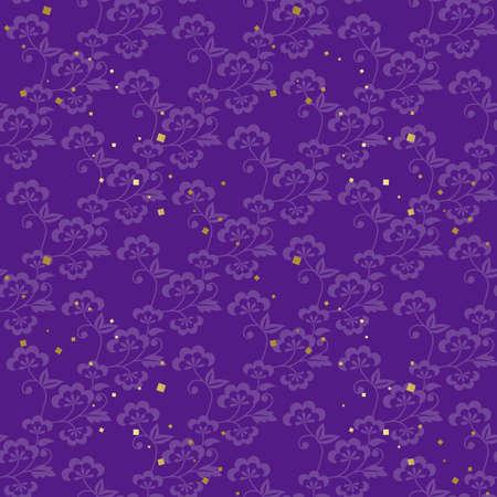 Purple Japanese style seamless pattern.