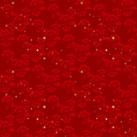 Red Japanese style seamless pattern.