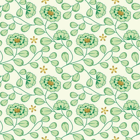 Flower pattern wallpaper.  Seamless. Stock Illustratie