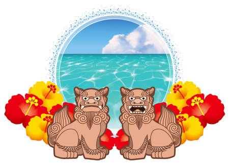 Illustration of the sea of Okinawa.
