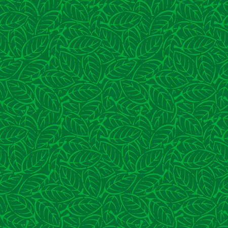 Illustration of leaves pattern. Seamless pattern. Vector.