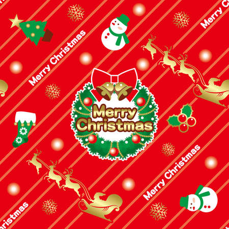 Wrapping paper for Christmas. Seamless wallpaper pattern. 矢量图像