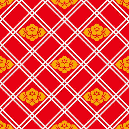 Retro wallpaper illustration. Seamless pattern.