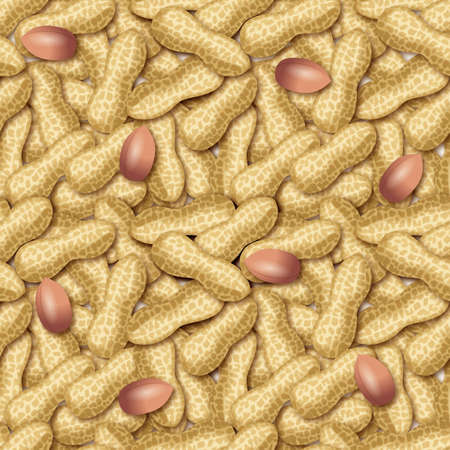 Peanut wallpaper illustration. Seamless pattern.