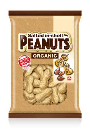 Illustration of a peanut paper bag. 免版税图像
