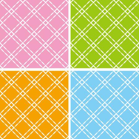 Geometric pattern images. Seamless pattern. 4-piece set.