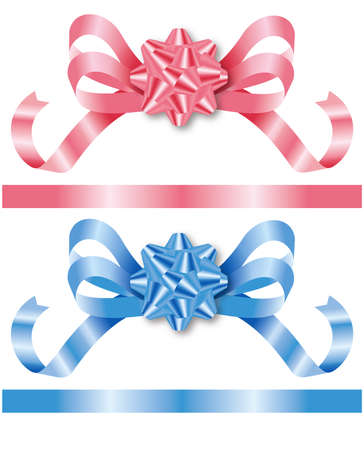 3d illustration of the ribbon. Gift collection. 免版税图像