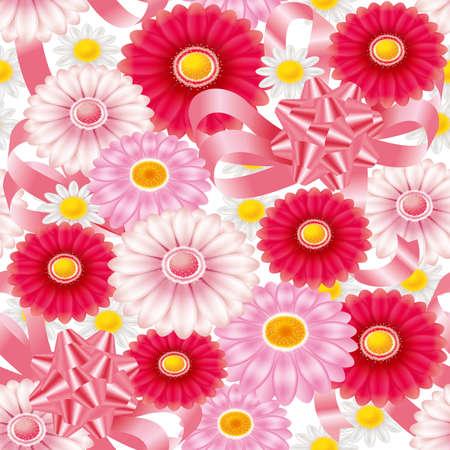 Floral wallpaper pattern. Seamless. 3D illustration.
