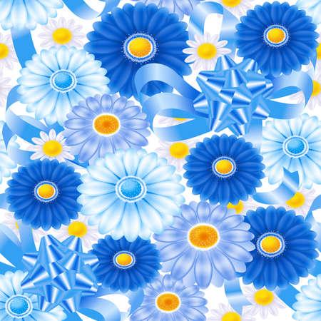 Floral wallpaper pattern. Seamless. 3D illustration. Stock Photo