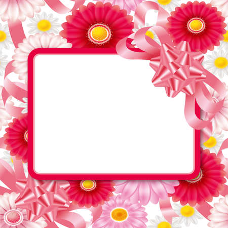 Floral wallpaper pattern and greeting card. Seamless. 3D illustration.