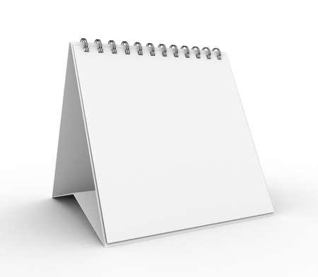 High Res. 3D Blank Calendar isolated Stock Photo - 9306430