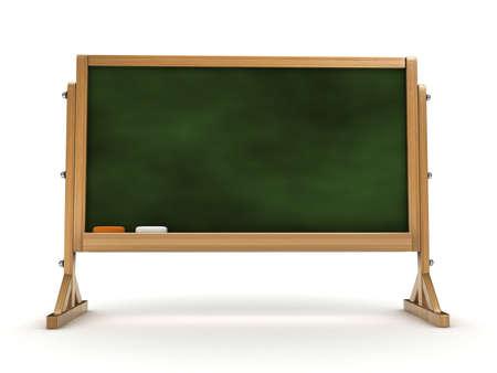 3d blackboard isolated Stock Photo