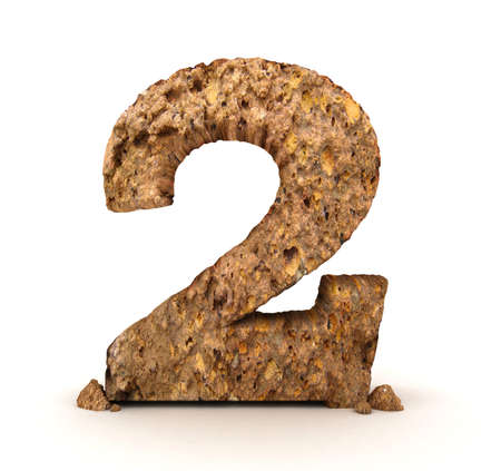 numero uno: n�mero de piedra 3D aislado Foto de archivo