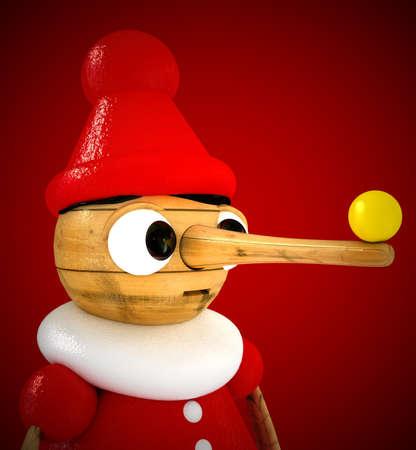 marioneta de madera: t�tere de madera Foto de archivo