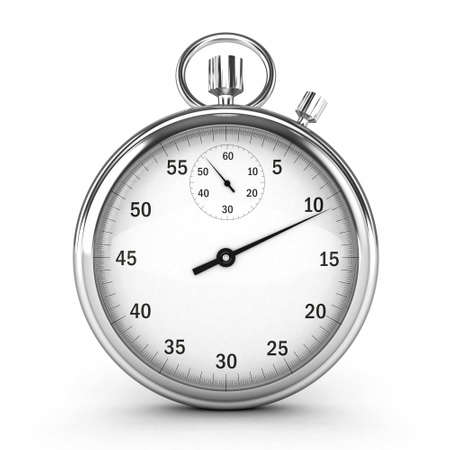 stopwatch: 3D Chronometer isolated  Stock Photo