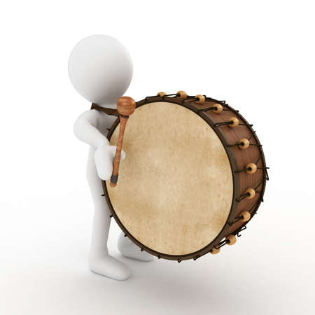 3D Ramadan drummer isolated  photo