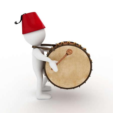 3D Ramadan drummer isolated Stock Photo - 11446961