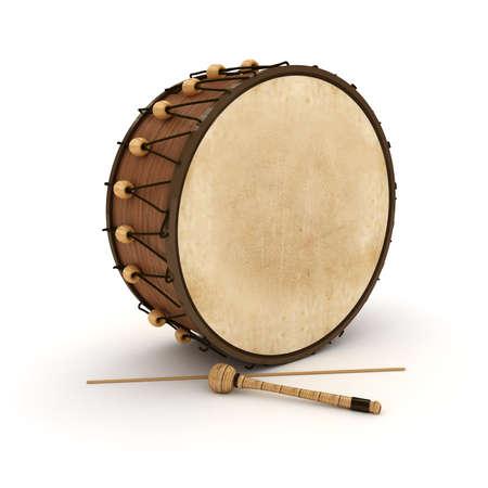 Ramadan Drum 3D Rendered Isolated  Stock Photo