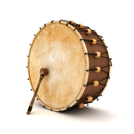 Ramadan drum 3D Rendered Isolated Stock Photo - 11446969