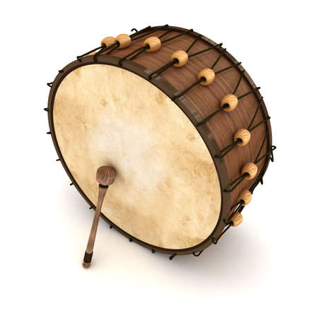 Ramadan drum 3D Rendered Isolated Stock Photo - 11446970