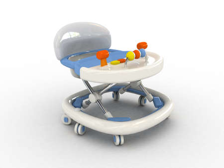 cradle: 3D Baby walker isolated Stock Photo