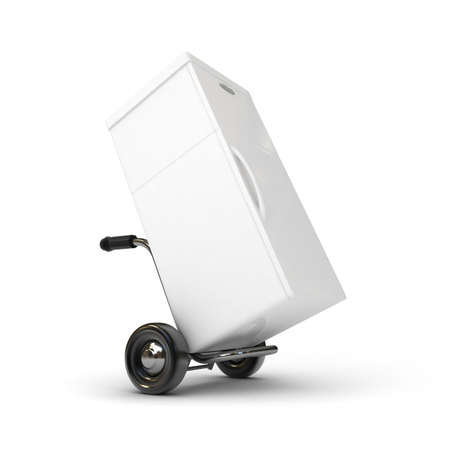 handcart: 3d barrow truck and fridge
