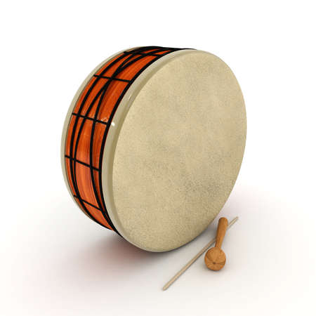 ramadan drum 3d rendered isolated  photo