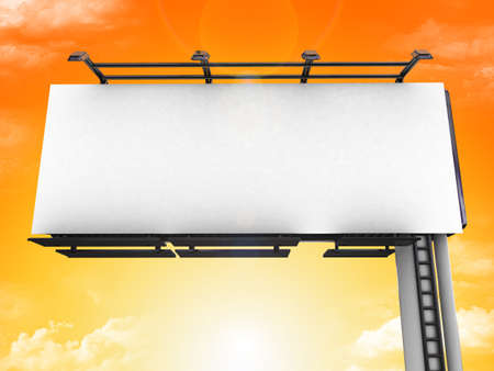 publicity: High res. blank big billboard with background-3d rendered