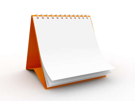 res: High Res. 3D Blank Calendar isolated