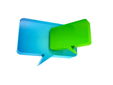 isolated chat box Stock Photo - 11447082