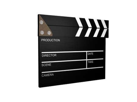 3d Clapperboard,Film Slate  photo