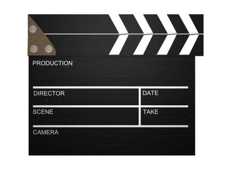 3d Clapperboard,Film Slate  photo