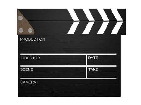 film slate: 3d Clapperboard,Film Slate  Stock Photo