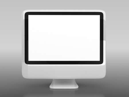 3d blank computer screen with background  photo