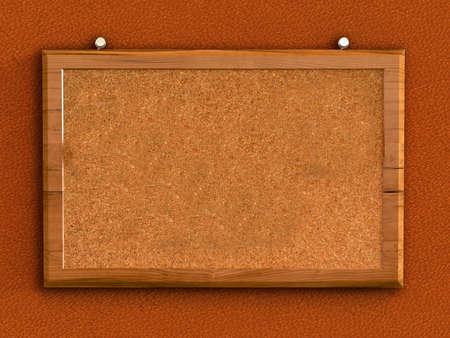 3d blank cork board  photo