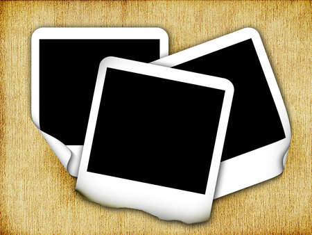 batch: photo frames with background Stock Photo