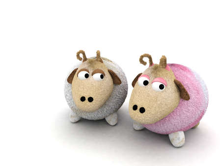sheep character for Valentines Day photo