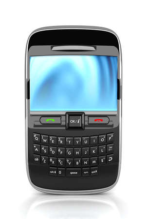 cell phone: 3D Rendered smart phone isolated