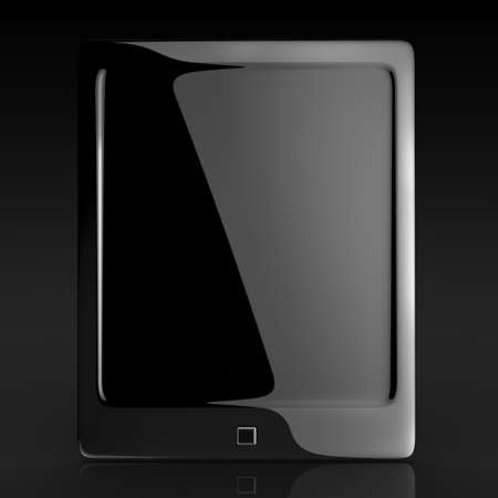 touch pad: black elegant tablet touch pad 3d rendered