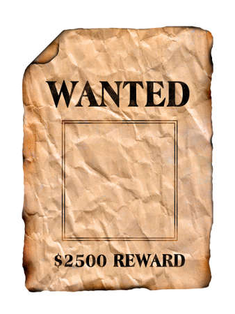 fugitive: Wanted poster isolated
