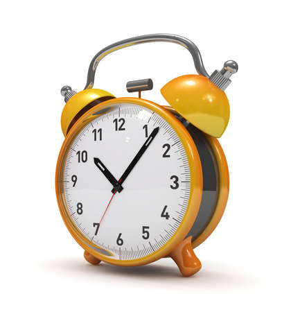 Alarm clock isolated 3d rendered  photo
