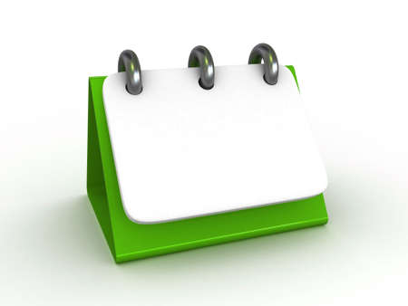 almanac: High Res. 3D Blank Desktop Calendar isolated