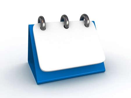 res: High Res. 3D Blank Desktop Calendar isolated