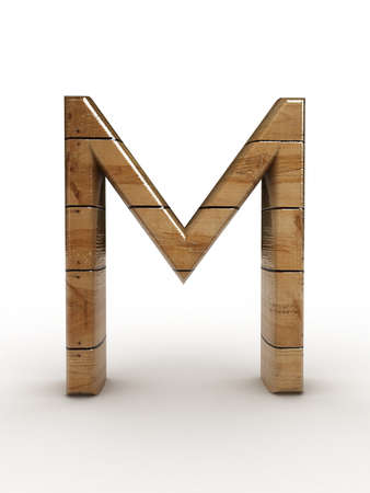 one letter of wooden alphabet  photo