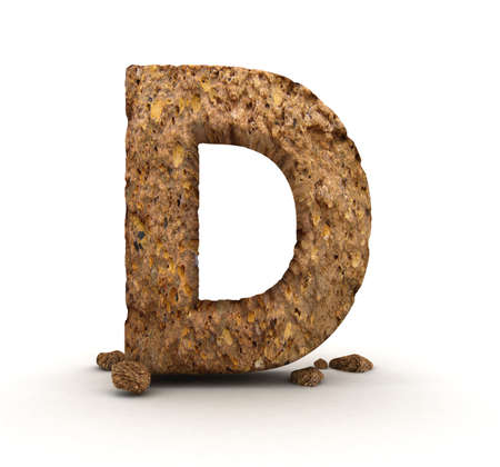 alphabetical letters: 3D Letter of Stone Alphabet Isolated